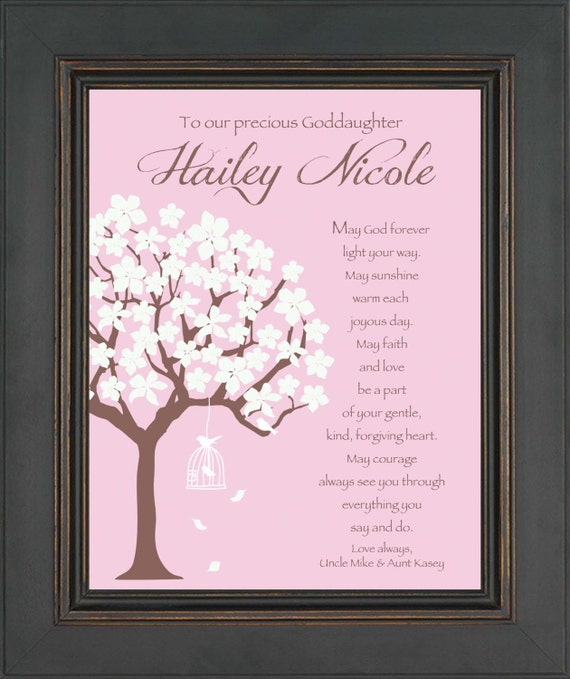 GODDAUGHTER Personalized Gift COMMUNION Or BAPTISM Gift