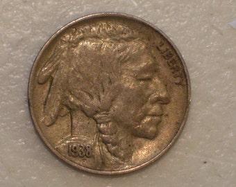 US 1938-D Buffalo Nickel, UNC coin