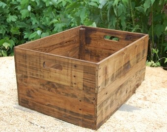 Wooden Crate/ Storage Box/ Crate Table/ Extra Large Crate/ Reclaimed Wood