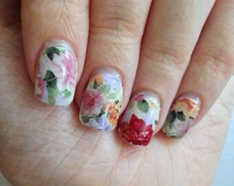 Painted Flowers Nail Wraps