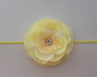 Yellow silk flower