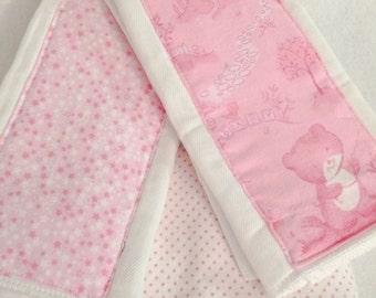 Baby Girl Pink Burp Cloth/Blanket Set