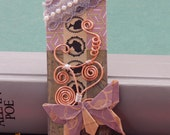 Origami Swallowtail butterfly bookmark, Victorian bookmark