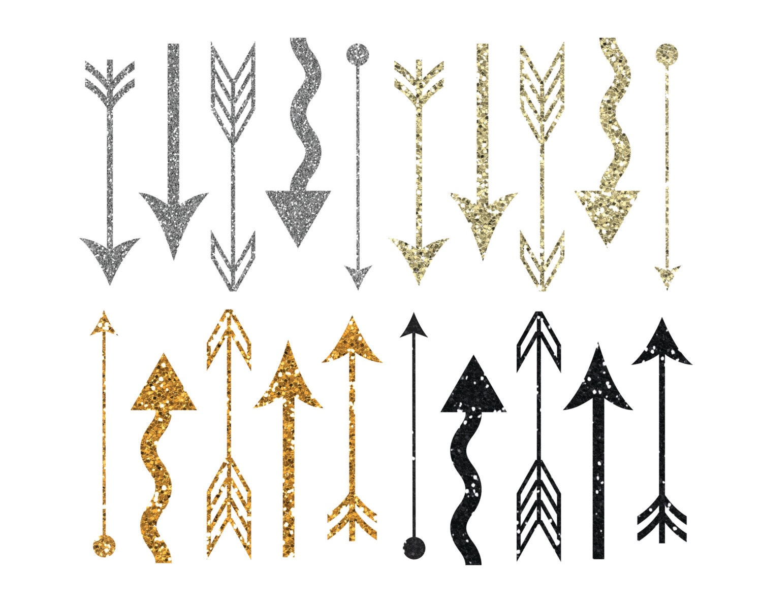 Gold Sparkles Clipart Arrow Glitter Clipart Gold