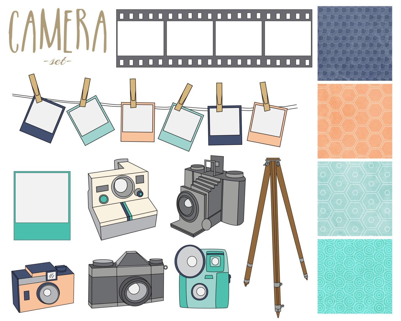 60% OFF SALE Camera Digital Clipart Vintage by thepaperpegasus