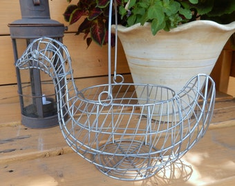 Farmhouse Decor Wire Duck Basket