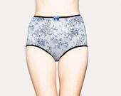 Romantic floral pattern High Waisted Panties by Egretta Garzetta underwear