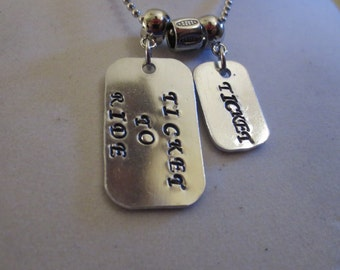 """Beatles """"Ticket To Ride"""" necklace"""