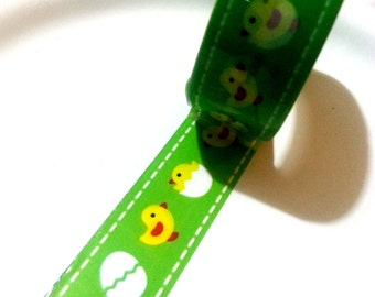 Deco tape kawaii green chicken egg