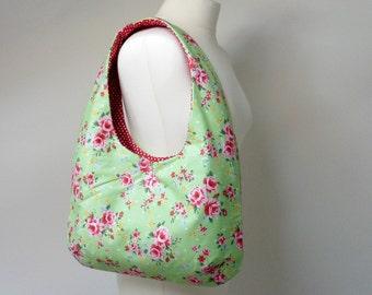 Handmade Floral Padded Handbag