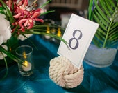 Nautical Wedding - 18 Nautical Rope Table Number Holders - 5 inch - Sailor's Wedding Decor