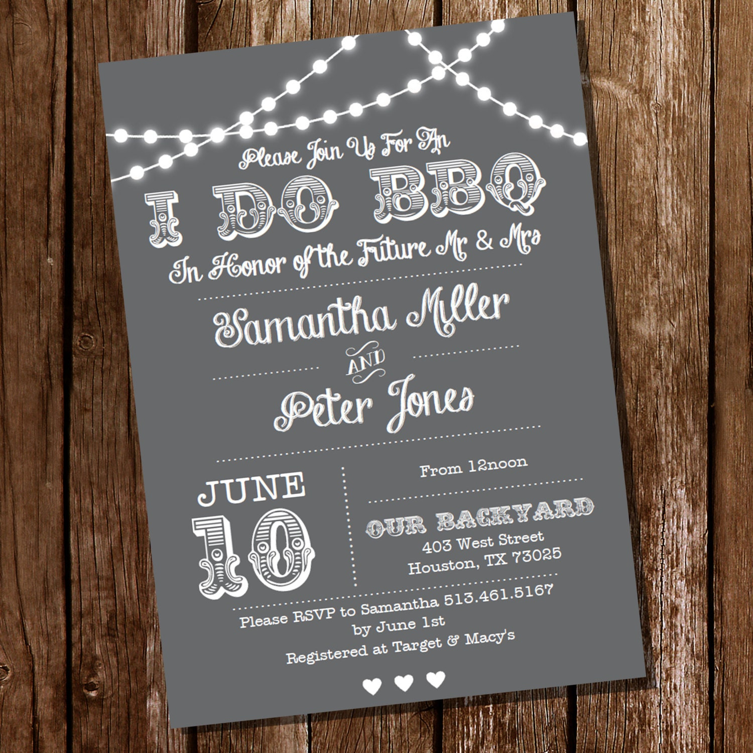 i do bbq invitations