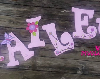Custom Decoupaged & Painted Wooded Letters