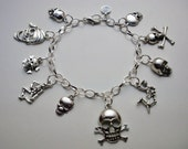 Skull and Skeleton Charm Bracelet
