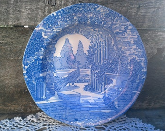 Blue Transferware Bowl Burgess and Leigh Stoke on Trent Bowl