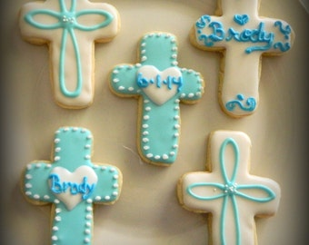 SALE-Baptism Sugar Cookie Favors-Baptism Party Favors-Baptism Cookies-Baptism Party