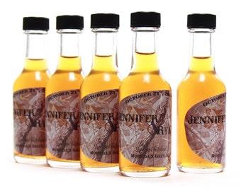 50 ml Bottles, Custom Labels, Wedding Favors, Outdoor Weddings, Camo Design