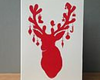 Reindeer Christmas Cards Pack Of Eight