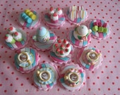 Pretty Tea Party Cupcake/Cake Toppers by LikeButter