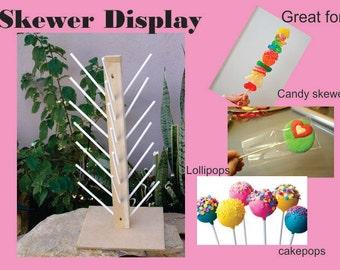 Lollipop Display, Lollipop holder, Cakepop stand, skewer display