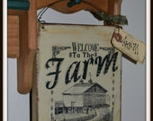 Primitive sign Americana old farm house handmade sign vintage, farmhouse decor,rustic farm decor