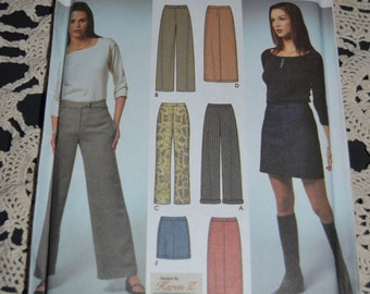Simplicity 9405 Misses Skirt and Pants  Sewing Pattern - UNCUT - Size 6 8 10 12