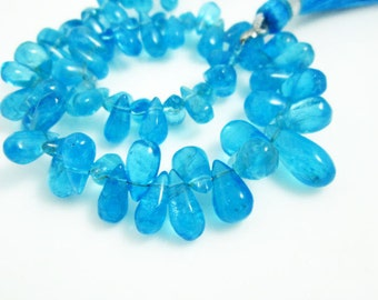 "AA-Apatite Smooth Tear Drops- 7"" Strand -Stones measure- 6x3-10x5mm"