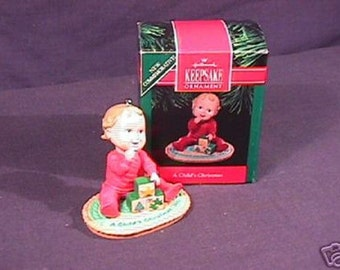 MIB 1991 Hallmark A Child's Christmas Ornament