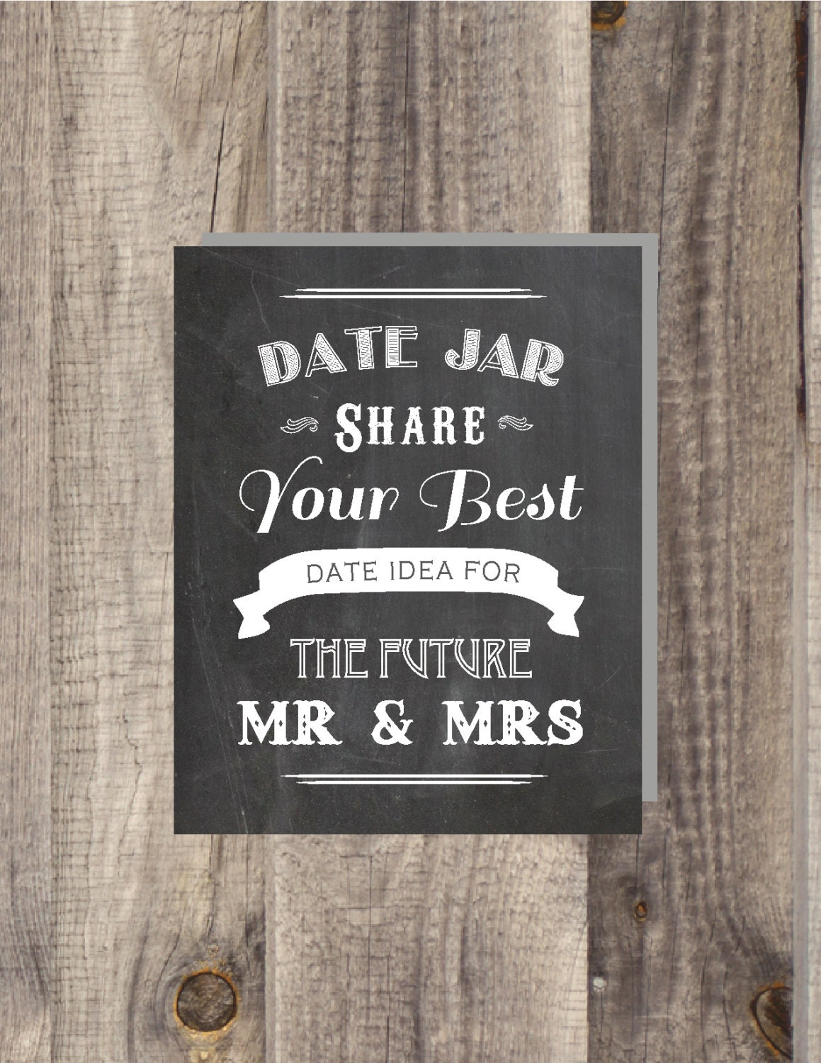 Instant Download Chalkboard Date Night Jar Share Your Best