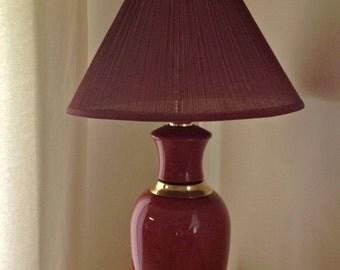 vintage large ginger jar lamp portable lamp gold colors - Ginger Jar Lamps