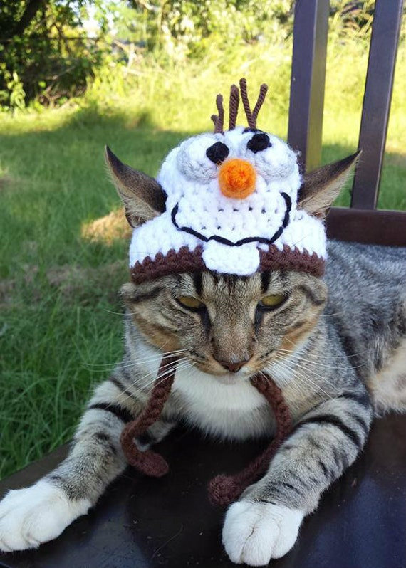 Olaf Cat Hat Olaf Hat For Cats Snowman Hat For Cats