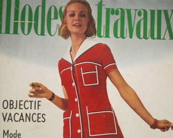 Vintage French 1971 Magazine Modes &Travaux