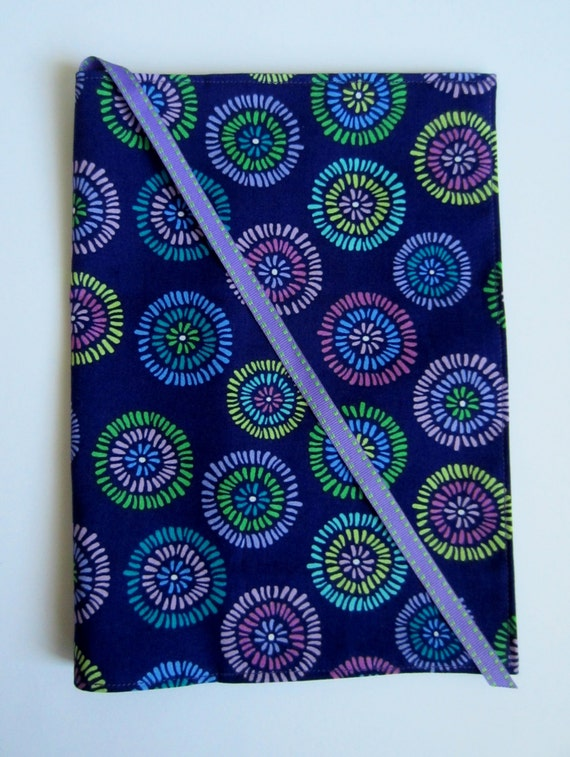 Fabric Composition Book Cover ~ Purple fabric journal composition notebook cover