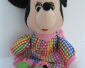 Knickerbocker All Cloth Stuffed Minnie Mouse Vintage