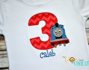 Thomas the Tank Train Birthday Shirt - number can be changed