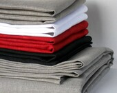 Linen tablecloth and napkins red natural gray white black pure linen table cloth and dinner napkin set of 8
