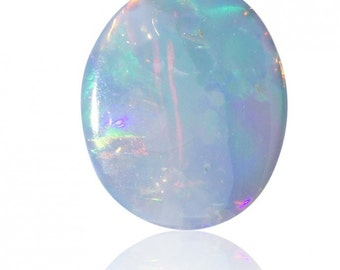 0.50ct Australian Opal Doublet Coober Pedy, Natural Untreated Loose Opal Piece SKU: 1880B007