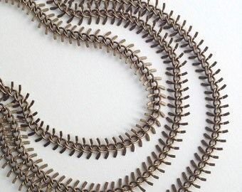 Sale Price!!!! Fishbone Chain, Zipper Brass Ox Chain, Bronze Chain, 2Ft