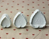 set of 3 love heart  cookies cutter, fondant cutter, biscuit cutter, for cupcake, cake sugar paste,petal paste,marzipan or craft clay