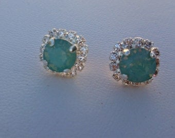Pacific Opal small post earrings by ashley3535