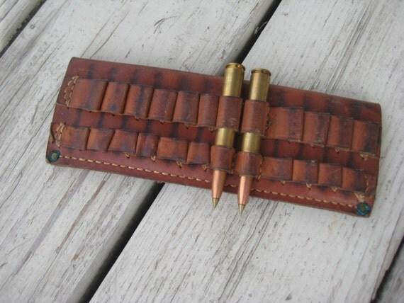rifle cartridge belt slide leather co 575 vintage