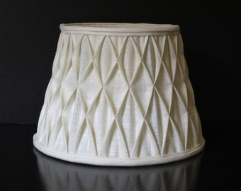 Hand smocked linen lampshade