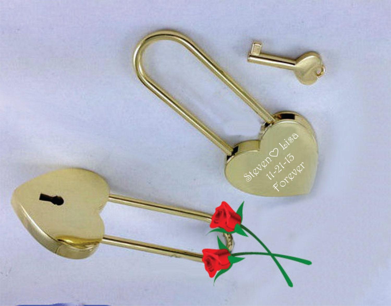 Love Lock Heart Lock Custom Lock Gold Heart Love Padlock