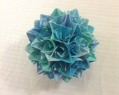 Blue and Turquoise Paper Centerpiece