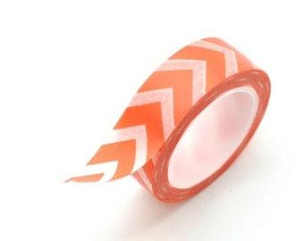Washi Tape Paper Masking Tape - Orange Chevron
