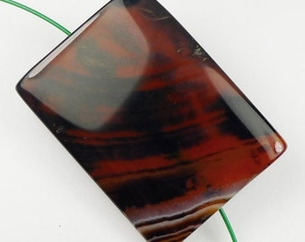 Rare Dream Agate Pendant Bead - 41x30x5mm