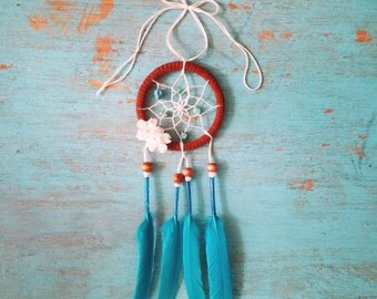 3 Inch Turquoise with Sugar Skull Dream Catcher