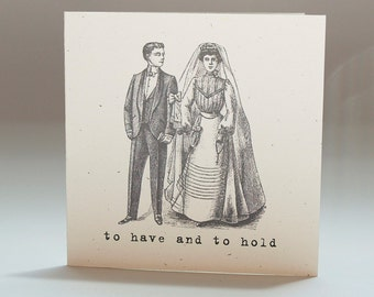 Wedding, Bride and Groom, Blank Notecards, Gift Tags
