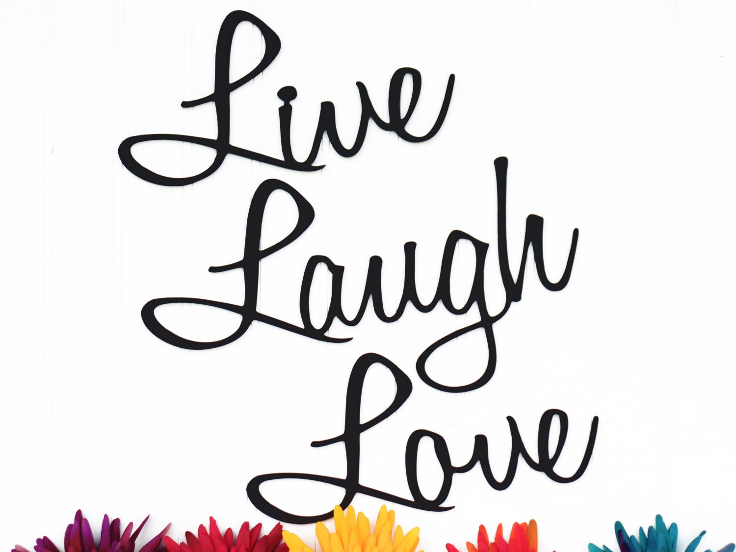 Wall Art Metal Sayings : Live laugh love wall decor patio lake house