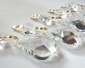 10 French Cut Chandelier Crystals 38mm Shabby Chic Baroque Prisms